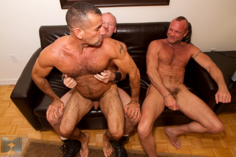 paul stag chad brock and ben venido from bareback that hole