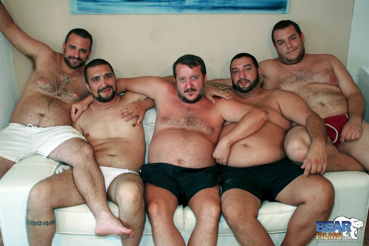 Hairy men bukkake