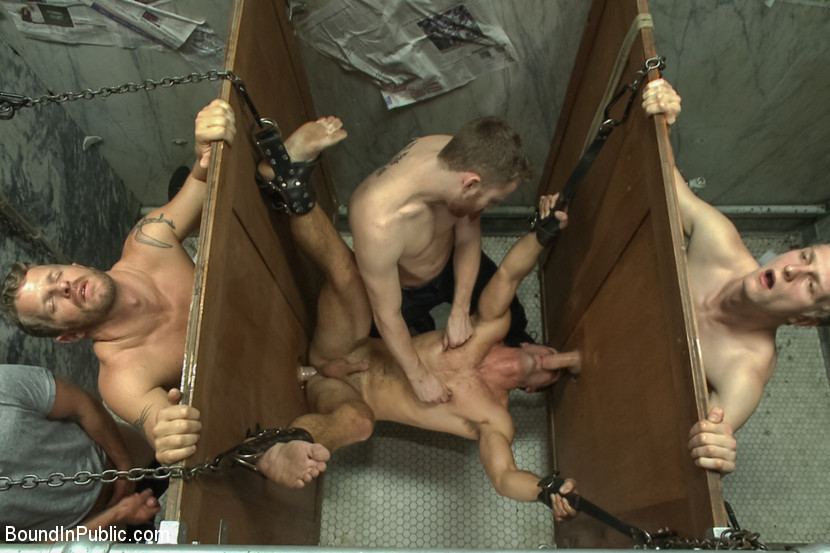 Bondage gay bathroom the adorable young lad 8