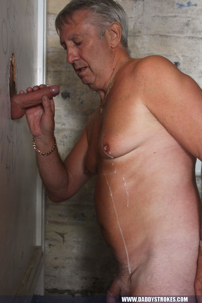 Silver Fox Dumps His Cum