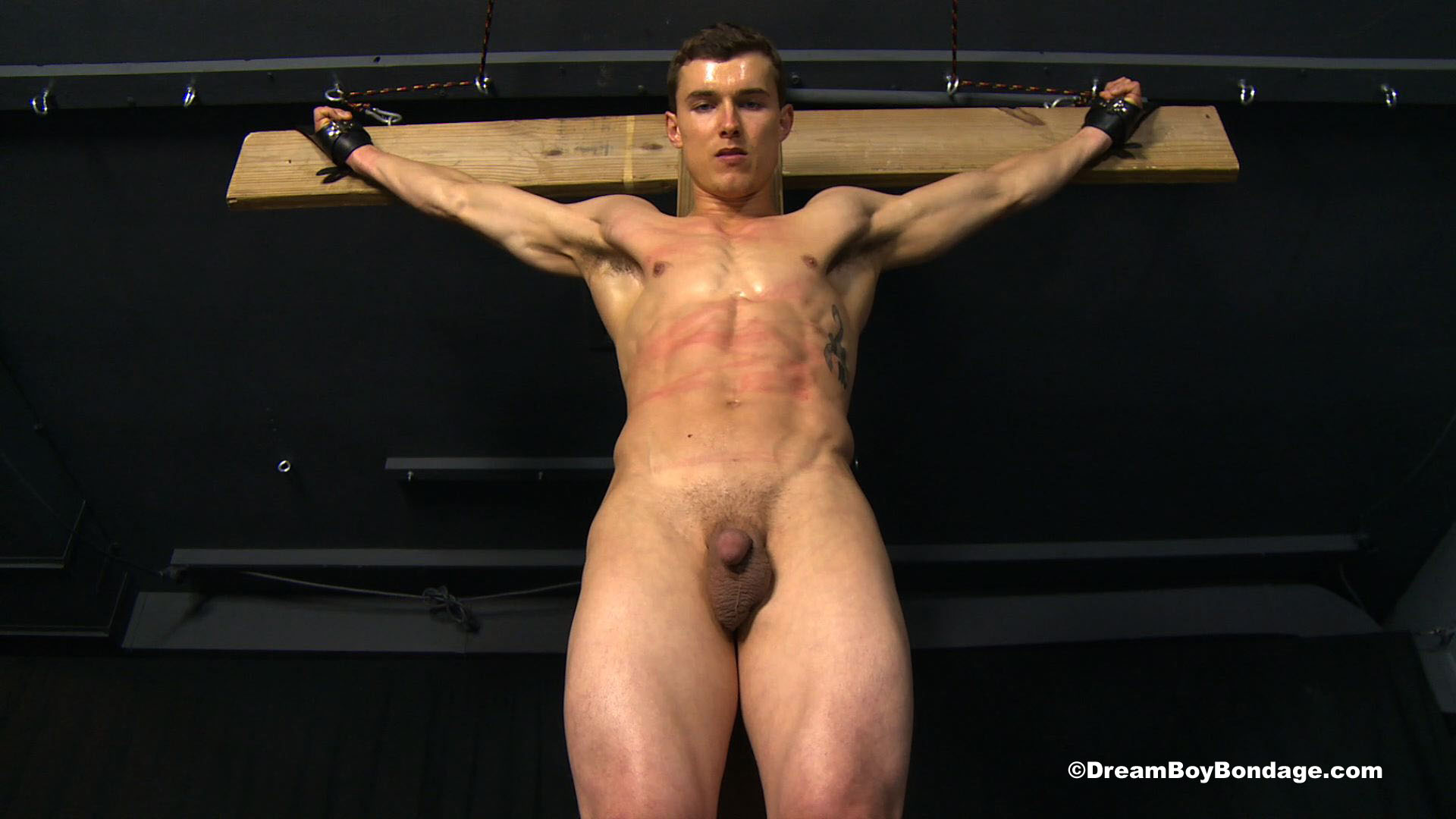 naked boy cross bondage Crucified Muscle 2