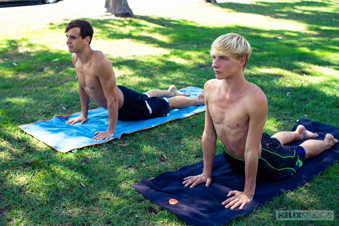 gay twinks yoga