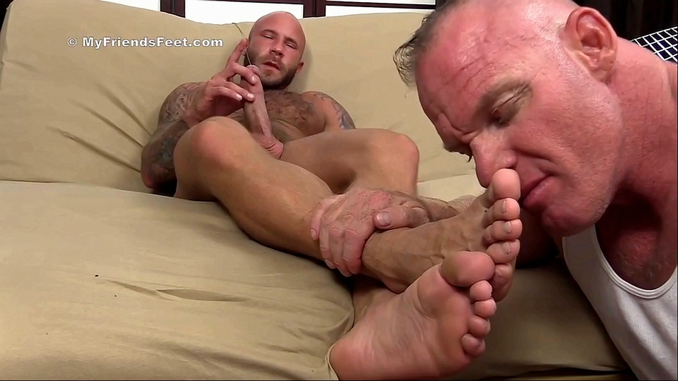 Gay foot worship video
