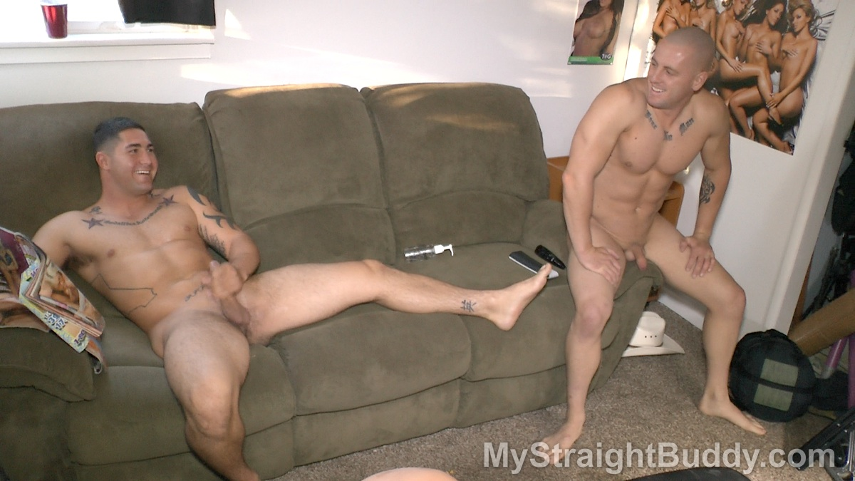 image Straight cowboys jacking and asian male