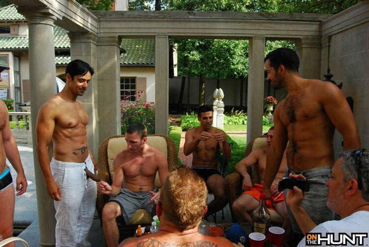 Pool party gang bang