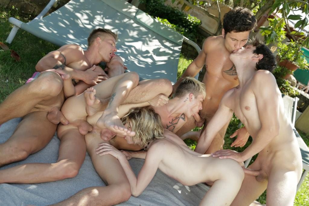 Old gay dude orgy