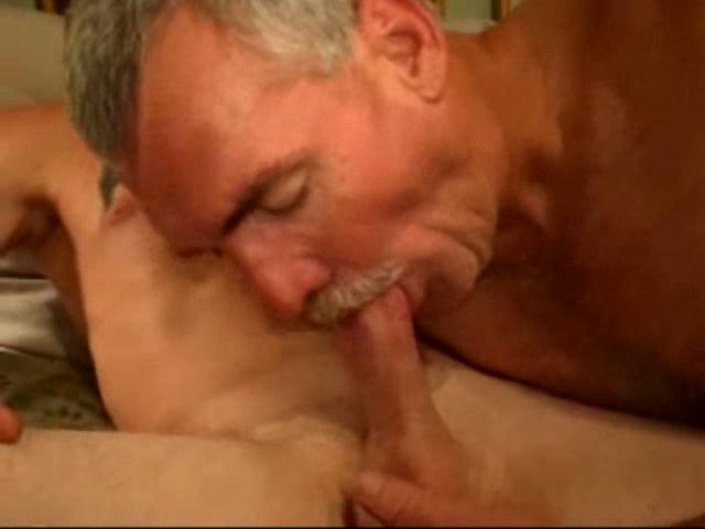 image Horny men in a foursome blowjob session