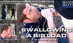 Swallowing A Big Load In The Woods