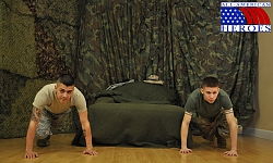 Corporal Anderson Drills Airman Paolo