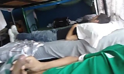Jerking Next To Sleeping Hostel Patron