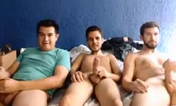 3 Happy Friends Jerking Off