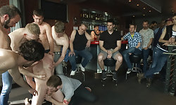 Bartender Humiliated and Gang Fucked