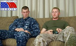 Petty Officer Aiden's First Gay BJ